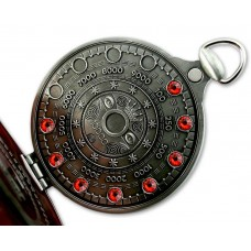 Pocket Cache Counter Geocoin Antique Silver RED
