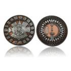 Suncompass Geocoin Antique Copper/Nickel