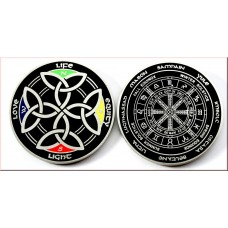 Power of the Celts Geocoin Antique Silver Black