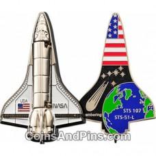 Space Shuttle Geocoin -  NICKEL