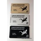 Personal travel card - s možností vlastního nicku na kartě